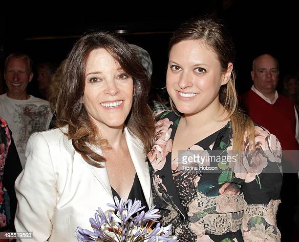 Marianne Williamson and daughter India Williamson attend an election celebration for independent congressional candidate Marianne Williamson on June...