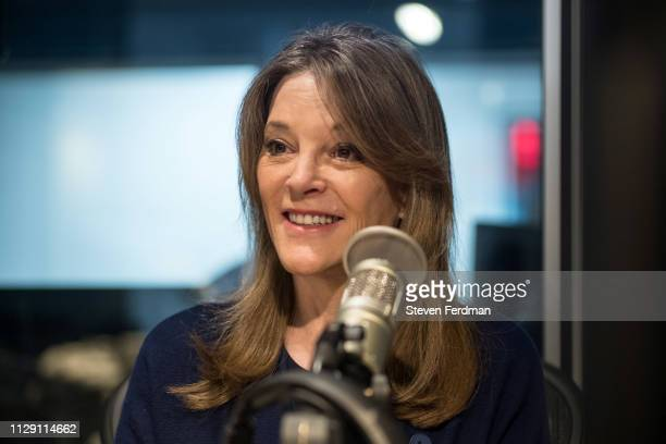 Marianne Williamson visits SiriusXM Studios on on March 7, 2019 in New York City.