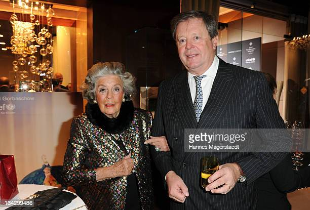 Marianne zu Sayn-Wittgenstein-Sayn and her son Peter zu Sayn-Wittgenstein-Sayn attend Celebrities Read For UNICEF Charity Event at Hotel Vier...