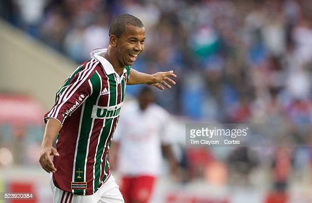 Mariano celebrates after scoring the first goal for Fluminense in their 3-0 win over Internacional during the Futebol Brasileiro Campeonato...