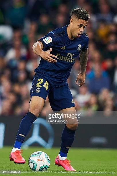 Mariano Díaz of Real Madrid in action during the Liga match between Real Betis Balompie and Real Madrid CF at Estadio Benito Villamarin on March 08,...