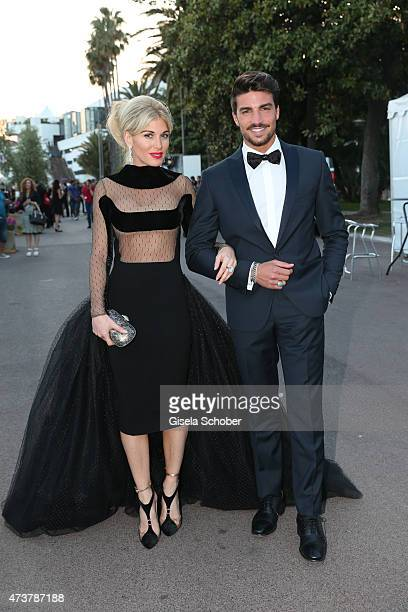 Mariano Di Vaio and Hofit Golan pose for portraits during the 68th annual Cannes Film Festival on May 17 2015 in Cannes France