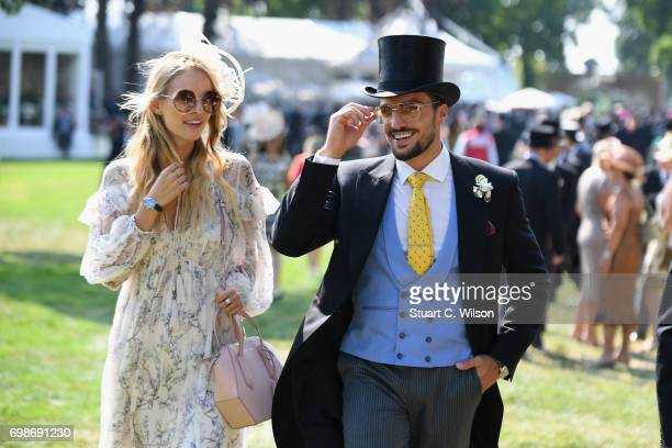 Mariano Di Vaio and Leonie Hanne on day 1 of Royal Ascot at Ascot Racecourse on June 20 2017 in Ascot England