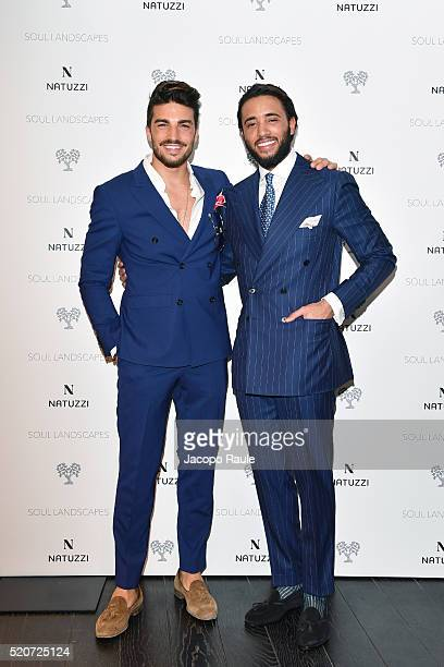 Mariano Di Vaio and Pasuqale Junior Natuzzi attend Natuzzi Soul Landscapes on April 12, 2016 in Milan, Italy.