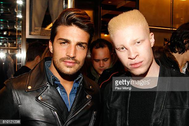 Mariano Di Vaio and Shaun Ross attend the after party celebrating DIESEL's Madison Avenue flagship on February 13 2016 in New York City