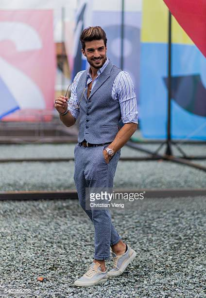 Mariano di Vaio during Pitti Uomo 90 on June 14 in Florence Italy