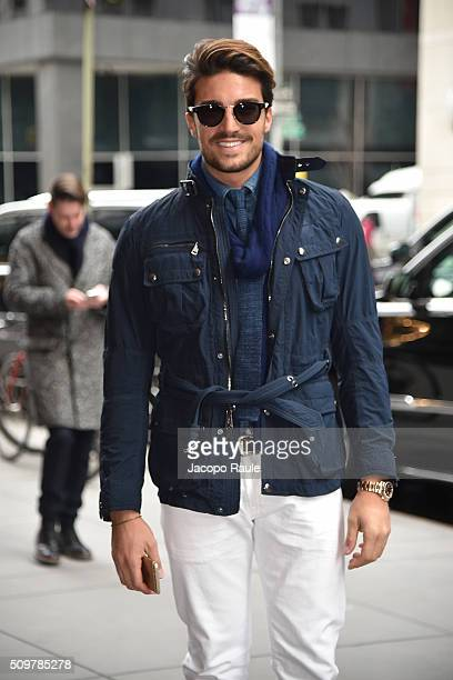 Mariano Di Vaio is seen arriving at Polo Ralph Lauren presentation during Fall 2016 New York Fashion Week on February 12 2016 in New York City