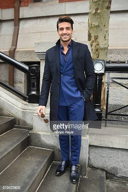 Mariano Di Vaio is seen arriving at Tommy Hilfiger fashion show during Fall 2016 New York Fashion Week on February 15 2016 in New York City