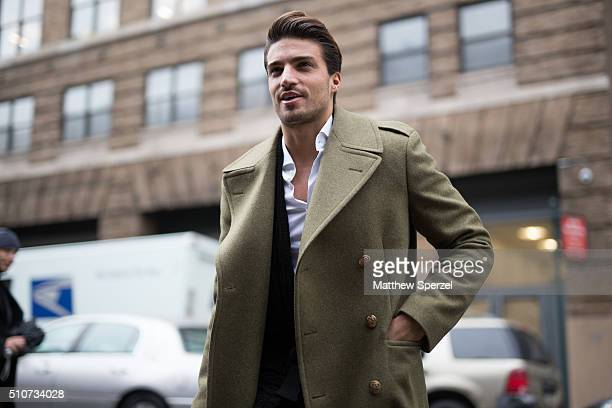 Mariano Di Vaio is seen at the Vera Wang Collection show during New York Fashion Week Women's Fall/Winter 2016 on February 16 2016 in New York City