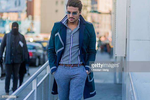 Mariano di Vaio is wearing Lacoste seen outside Lacoste during New York Fashion Week Women's Fall/Winter 2016 on February 13 2016 in New York City
