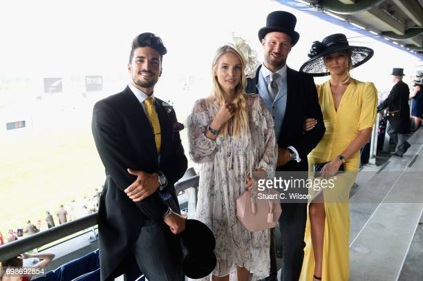Mariano Di Vaio Leonie Hanne Aksel Lund Svindal and guest on day 1 of Royal Ascot at Ascot Racecourse on June 20 2017 in Ascot England