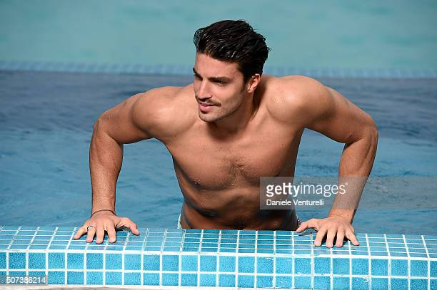 Mariano di Vaio poses during the vacation at Hideaway Beach Resort Spa on January 29 2016 in Dhonakulhi Maldives