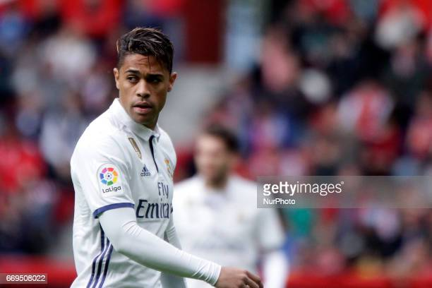 Mariano Diaz forward of Real Madrid during the La Liga Santander match between Sporting de Gijon and Real Madrid at Molinon Stadium on April 15 2017...