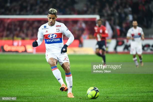 Mariano Diaz of Lyon during the Ligue 1 match between Lille OSC and Olympique Lyonnais at Stade Pierre Mauroy on February 18 2018 in Lille
