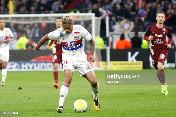 Mariano Diaz of OL and Moussa Niakhate of Metz during the Ligue 1 match between Olympique Lyonnais and Fc Metz at Parc Olympique on October 29 2017...