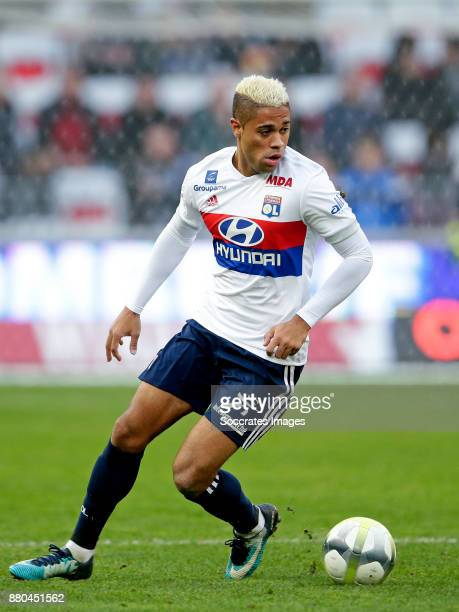 Mariano Diaz of Olympique Lyon during the French League 1 match between Nice v Olympique Lyon at the Allianz Riviera on November 26 2017 in Nice...