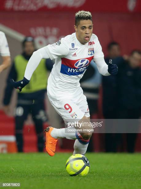Mariano Diaz of Olympique Lyon during the French League 1 match between Lille v Olympique Lyon at the Stade Pierre Mauroy on February 18 2018 in...