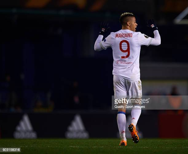 Mariano Diaz of Olympique Lyon looks on during UEFA Europa League Round of 32 match between Villarreal and Olympique Lyon at the Estadio de la...