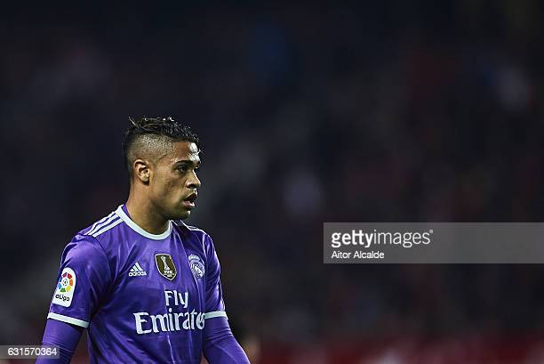 Mariano Diaz of Real Madrid CF looks on during the Copa del Rey Round of 16 Second Leg match between Sevilla FC vs Real Madrid CF at Ramon Sanchez...