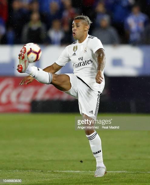Mariano Diaz of Real Madrid controls the ball during the La Liga match between Deportivo Alaves and Real Madrid at Estadio de Mendizorroza on October...