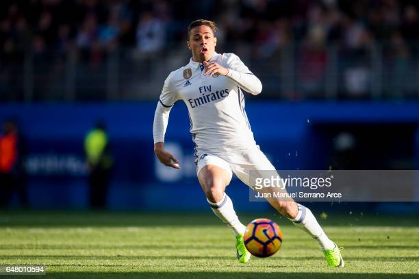 Mariano Diaz of Real Madrid controls the ball during the La Liga match between SD Eibar and Real Madrid at Ipurua Municipal Stadium on March 4 2017...