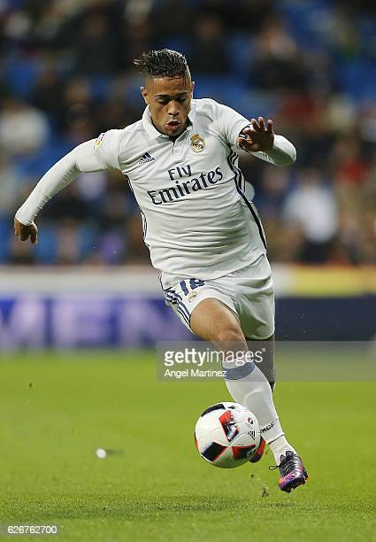 Mariano Diaz of Real Madrid in action during the Copa del Rey round of 32 second leg match between Real Madrid CF and Cultural y Deportiva Leonesa at...