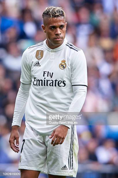 Mariano Diaz of Real Madrid looks on during the La Liga match between Real Madrid CF and Levante UD at Estadio Santiago Bernabeu on October 20 2018...
