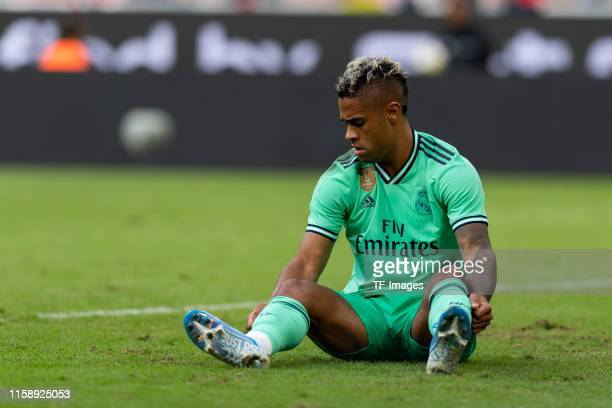 Mariano Diaz of Real Madrid on the ground during the Audi cup 2019 3rd place match between Real Madrid and Fenerbahce at Allianz Arena on July 31...