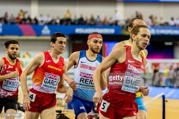 Mariano ESP and REID Joe GBR competing in the 800m Men event during day ONE of the European Athletics Indoor Championships 2019 at Emirates Arena in...