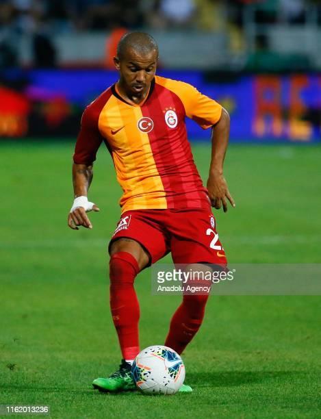 Mariano Ferreira Filho of Galatasaray in action during the Turkish Super Lig soccer match between Yukatel Denizlispor and Galatasaray at the Denizli...