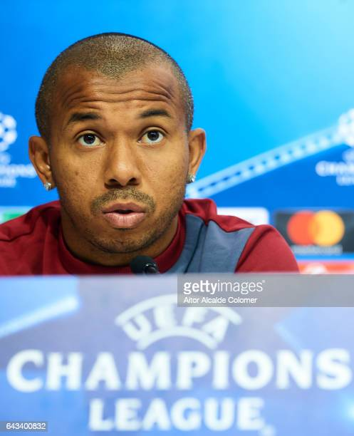 Mariano Ferreira of Sevilla FC attends to the press during their press conference prior to their match of Champions League Round of 16 1st Leg...