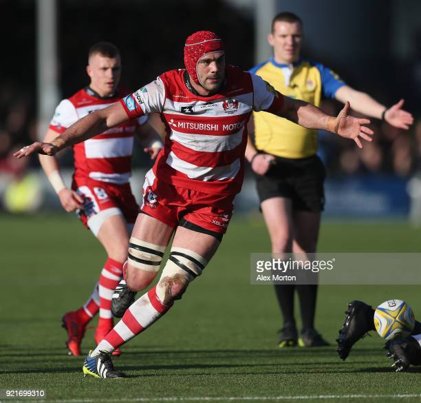 Mariano Galarza of Gloucester during the Aviva Premiership match between Worcester Warriors and Gloucester Rugby at Sixways Stadium on February 17...