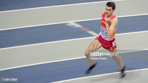 Mariano Garcia of Spain competes in the semi finals of the men's 800m event on March 2 2019 in Glasgow United Kingdom