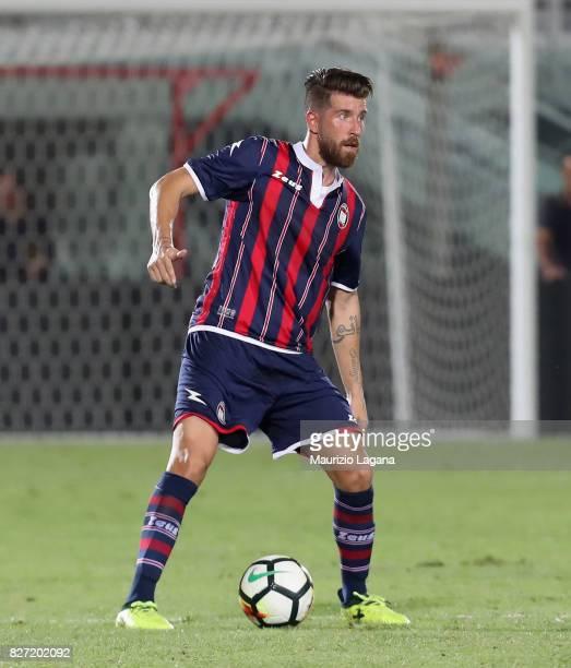 Mariano Izco of Crotone during the PreSeason Friendly match between FC Crotone and Cagliari Calcio at Stadio Comunale Ezio Scida on August 5 2017 in...