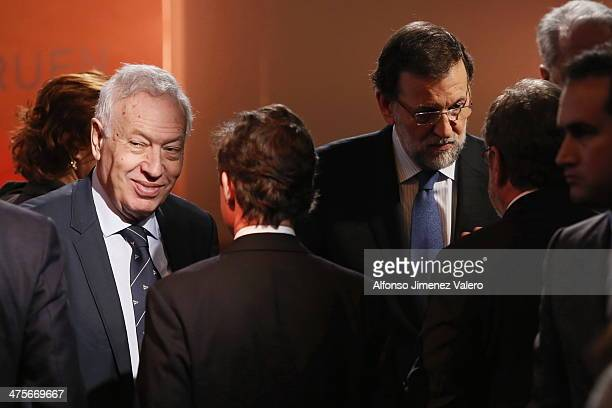 Mariano Rajoy and Jose Manuel Gaecia Margallo at 'Project Europe' International Conference on February 28 2014 in Madrid Spain