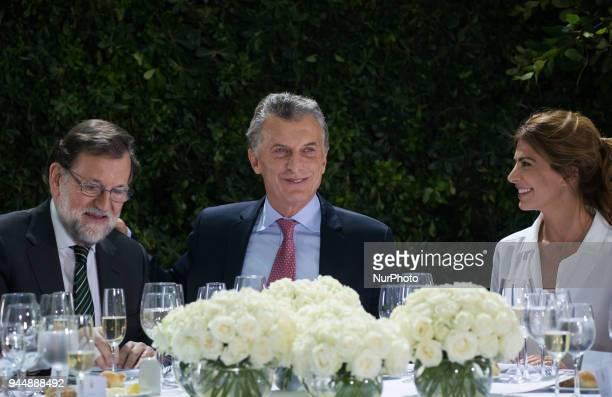 Mariano Rajoy Mauricio Macri and Juliana Awada Argentina´s first lady at the Museum of the Casa Rosada Buenos Aires Argentina Tuesday April 10 2018