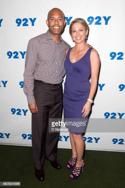 Mariano Rivera and Amy Robach attend an evening with Mariano Rivera at 92nd Street Y on May 20, 2014 in New York City.