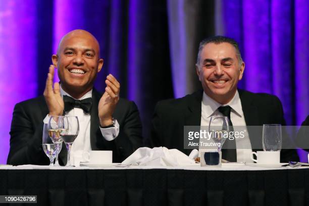 Mariano Rivera and John Franco look on during the 2019 Baseball Writers' Association of America awards dinner on Saturday January 26 2019 at the New...