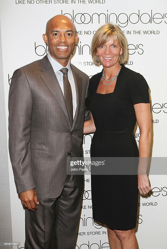 Mariano Rivera and Lori Griffitz attends Bloomingdale's 59th Street and Canali welcome Mariano Rivera in support of the Mariano Rivera Foundation at Bloomingdale's 59th Street Store on September 13, 2012 in New York City.