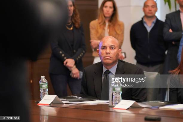 Mariano Rivera attends Project Destined Yankees Shark Tank Presentations at Yankee Stadium on March 4 2018 in New York City