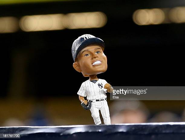 Mariano Rivera of the New York Yankees bobble head doll was given away to fans who attended the game between the Tampa Bay Rays and the New York...