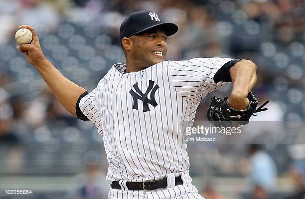 Mariano Rivera of the New York Yankees delivers a pitch against the New York Mets on June 20, 2010 at Yankee Stadium in the Bronx borough of New York...