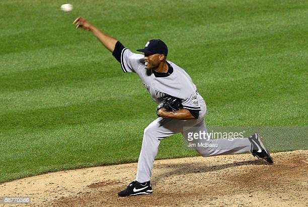 Mariano Rivera of the New York Yankees pitches against the New York Mets on June 28, 2009 at Citi Field in the Flushing neighborhood of the Queens...