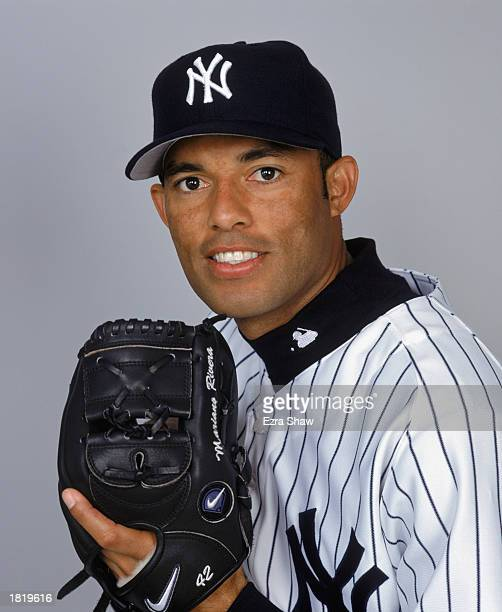 Mariano Rivera of the New York Yankees poses for a portrait during the Yankees Media Day at Legends Field on February 21 2003 in Tampa Florida