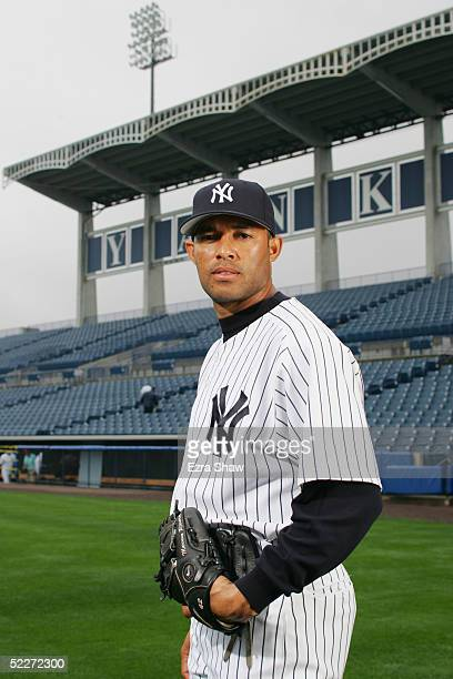 Mariano Rivera of the New York Yankees poses for a portrait during Yankees Photo Day at Legends Field on February 25 2005 in Tampa Florida