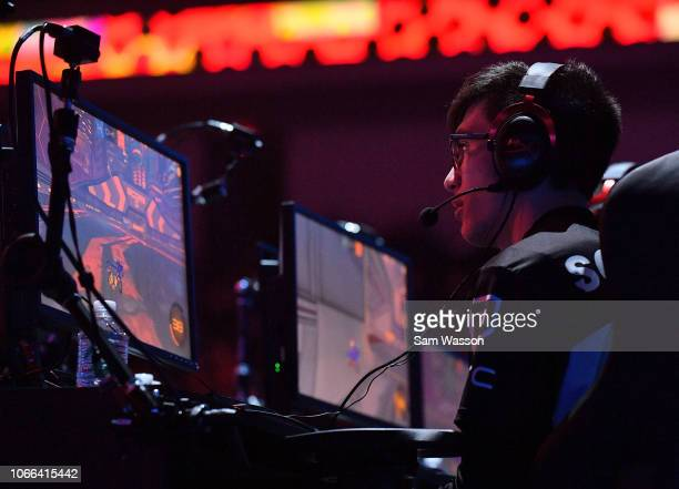 Mariano 'SquishyMuffinz' Arruda of team Cloud9 competes during the grand finals match of the Rocket League Championship Series World Championship...