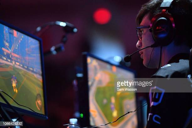 Mariano 'SquishyMuffinz' Arruda of team Cloud9 competes during the lower bracket finals match of the Rocket League Championship Series World...