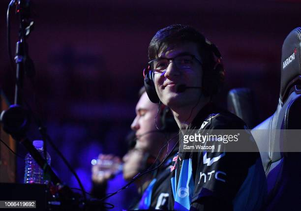 Mariano 'SquishyMuffinz' Arruda of team Cloud9 looks out at the crowd during the grand finals match of the Rocket League Championship Series World...