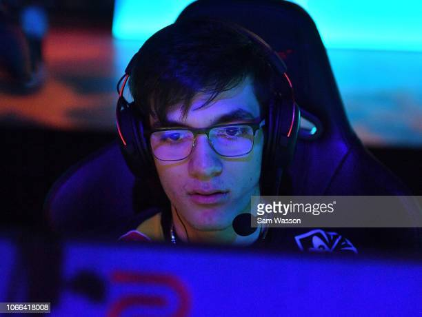 Mariano 'SquishyMuffinz' Arruda of team Cloud9 sits at his station before the grand finals match of the Rocket League Championship Series World...