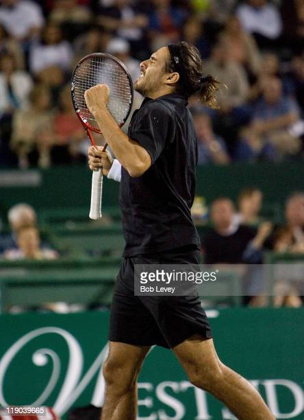 Mariano Zabaleta defeated [4]Mardy Fish 75 64 in 2nd round action at the US Mens Clay Court Championships at Westside Tennis Club April 11 2007 in...
